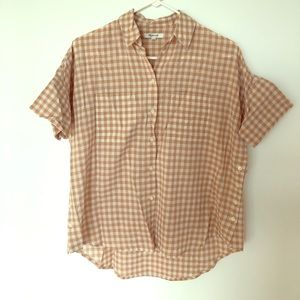 Madewell gingham central button down, size x-small